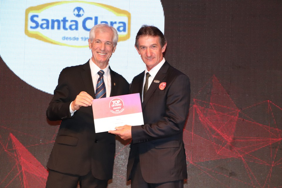 Santa Clara é agraciada com oitavo Top Of Mind na categoria Queijos | Blog Santa Clara