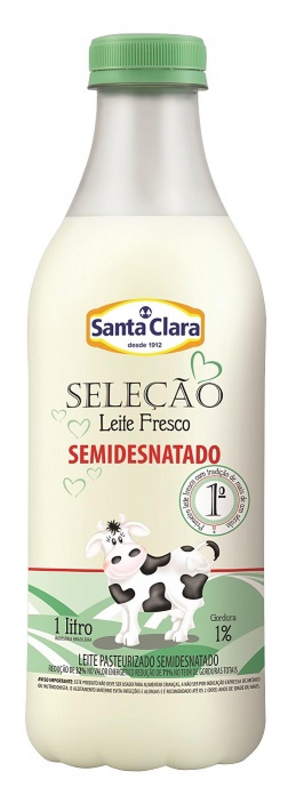 Leite Seleção Semidesnatado Santa Clara chega ao mercado | Blog Santa Clara
