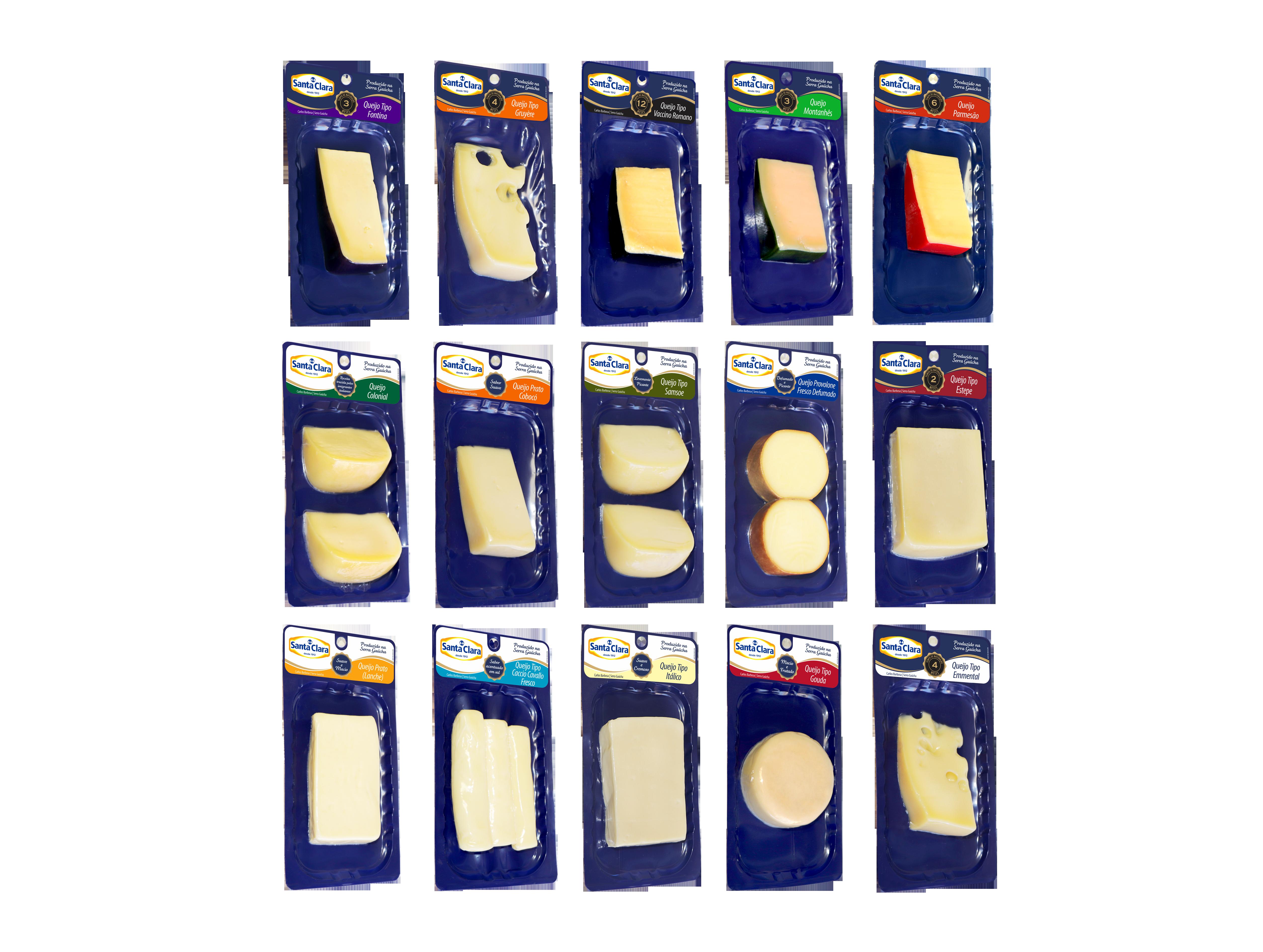 Queijos Santa Clara contam com embalagens Skin Pack