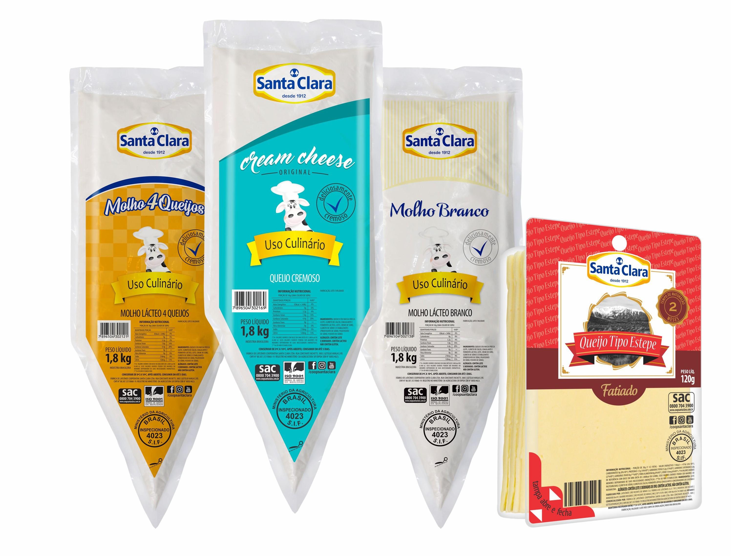 Santa Clara lança Queijo Estepe fatiado e produtos para food service