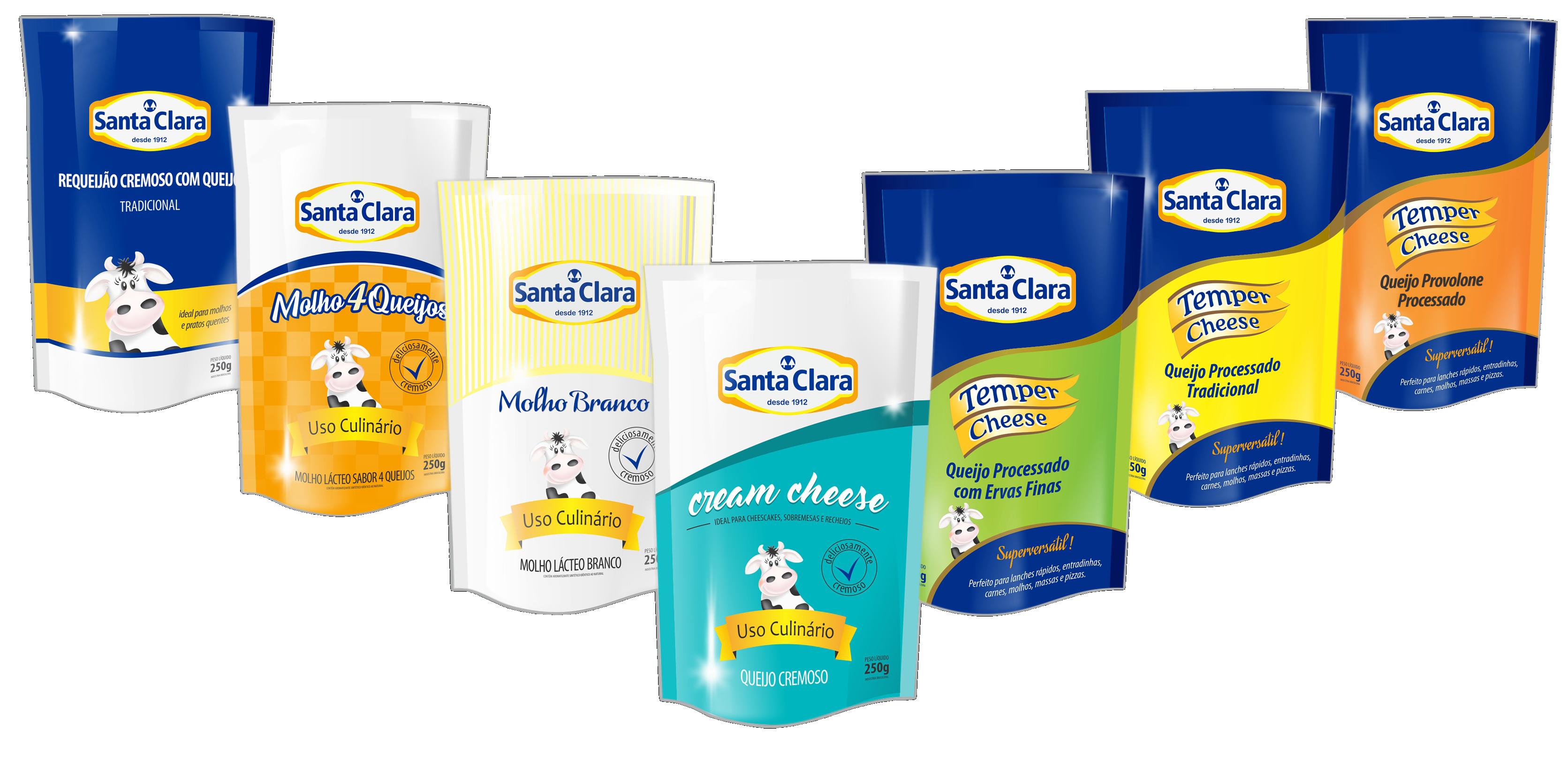 Santa Clara lança produtos em linha pouch 250g
