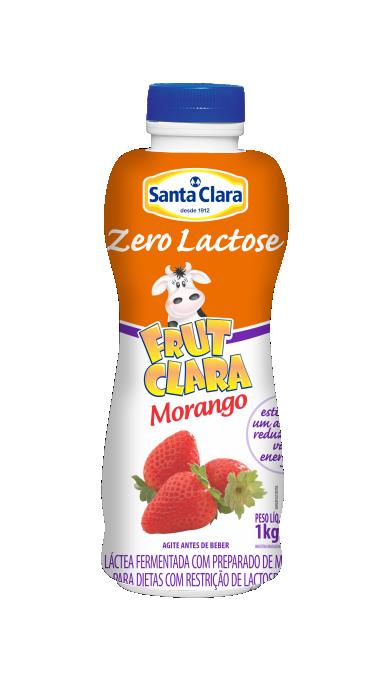 Frut Clara sabor Morango Zero Lactose