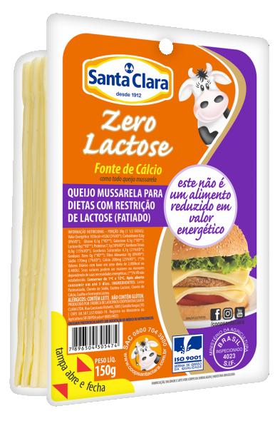 Queijo Mussarela Zero Lactose Fatiado 150g