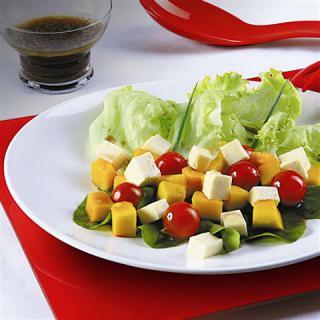 Salada de manga com molho de laranja | Blog Santa Clara
