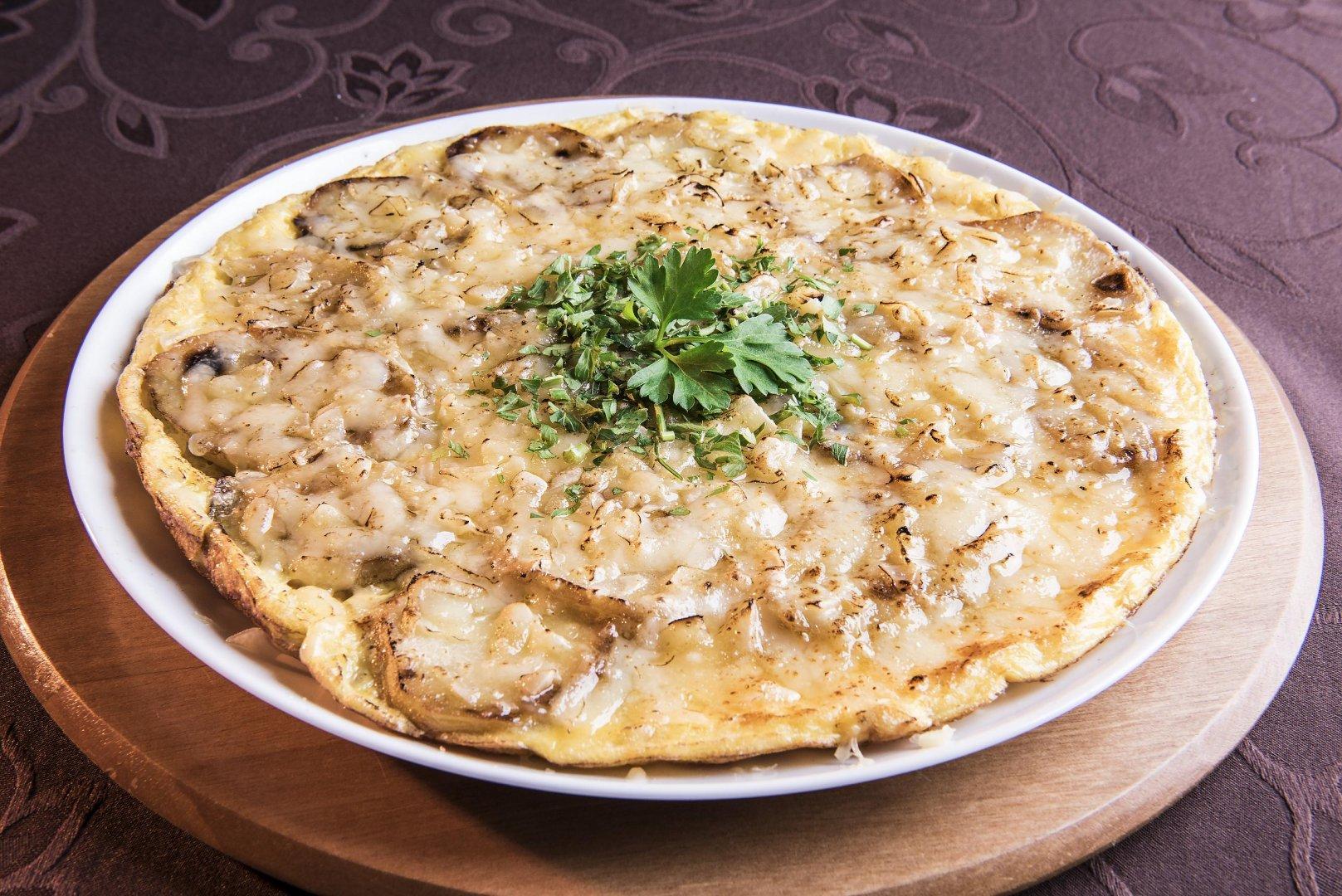 Tortilla de Batata com Queijo Estepe