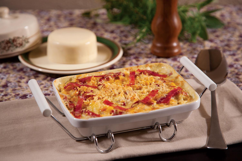Batata ao Forno com Salame Italiano