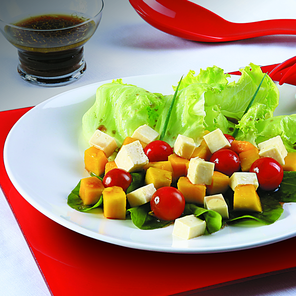 Salada de Manga com Molho de Laranja