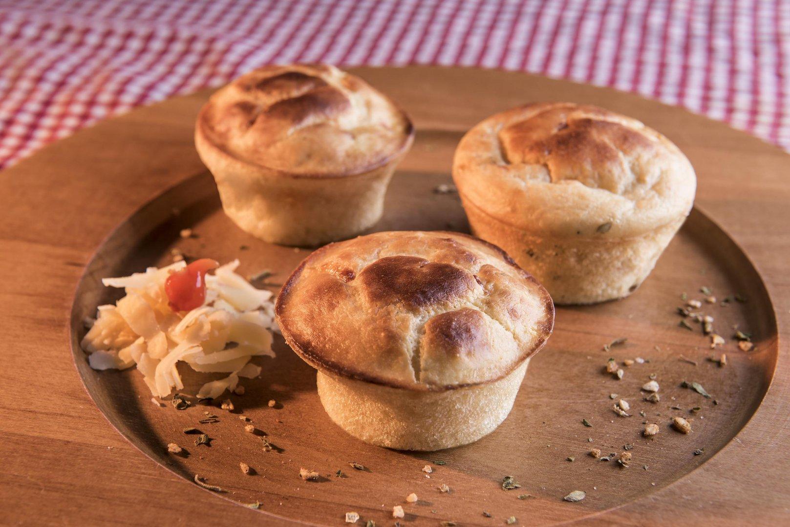 Muffin Salgado com Queijo Cobocó